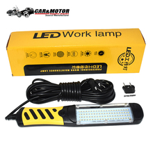 Портативный светодиодный фонарик Магнитная 80 светодиодный аварийного безопасности работы свет ремонт автомобилей осмотр ручной работы лампы 220 V ЕС Plug