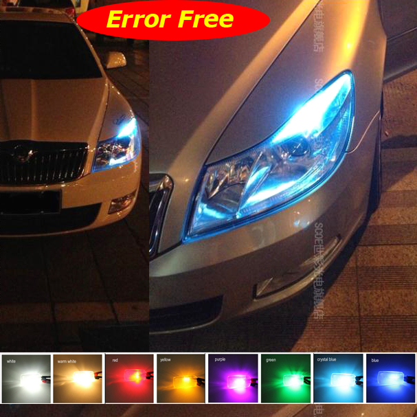 For Skoda OCTAVIA RS Car Styling 2x12SMD Error Free Front Side Maker Light Parking Light Lamp Bulb Source Crystal Blue White car usb sd aux adapter digital music changer mp3 converter for skoda octavia 2007 2011 fits select oem radios
