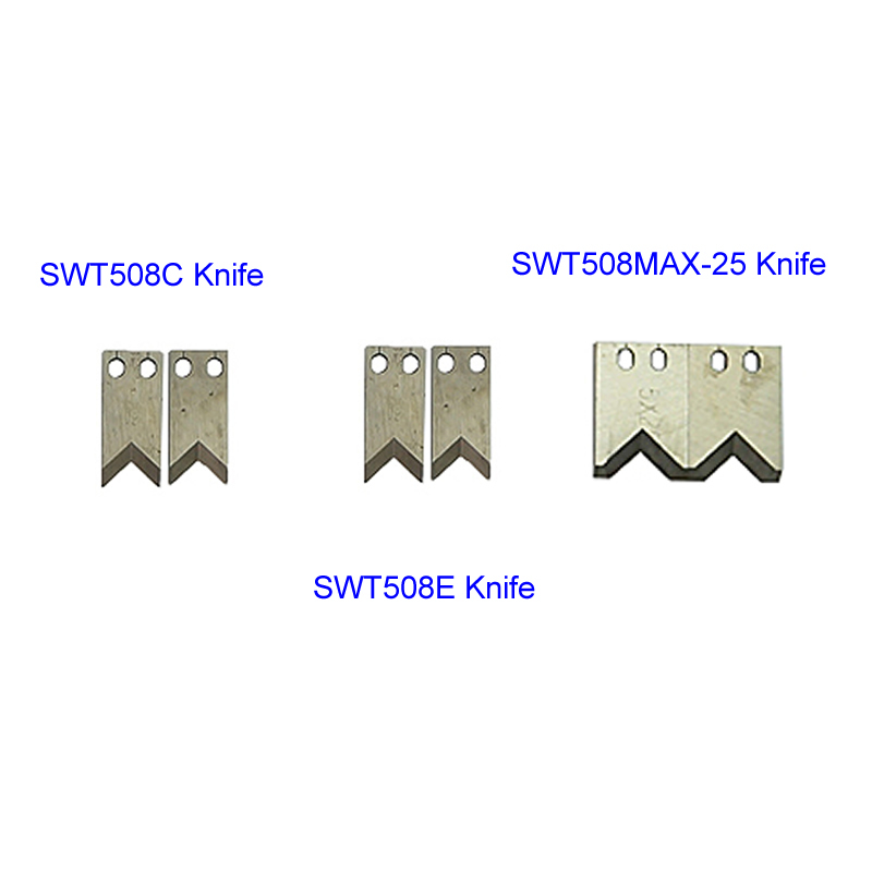 2pcs/set Steel Knife Blade for SWT508C SWT508E SWT508MAX-25 Wire Stripping Peeling Cutting Machine2pcs/set Steel Knife Blade for SWT508C SWT508E SWT508MAX-25 Wire Stripping Peeling Cutting Machine