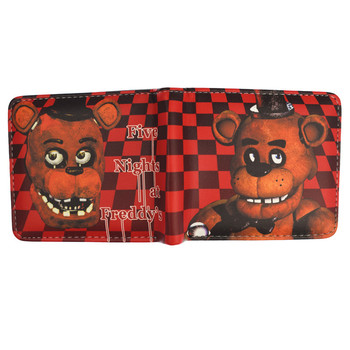 Anime Cartoon HASP Open Three Flod Wallet  Five Nights At Freddy`s /Doctor Strange /Suicide Squad Wallets For Young