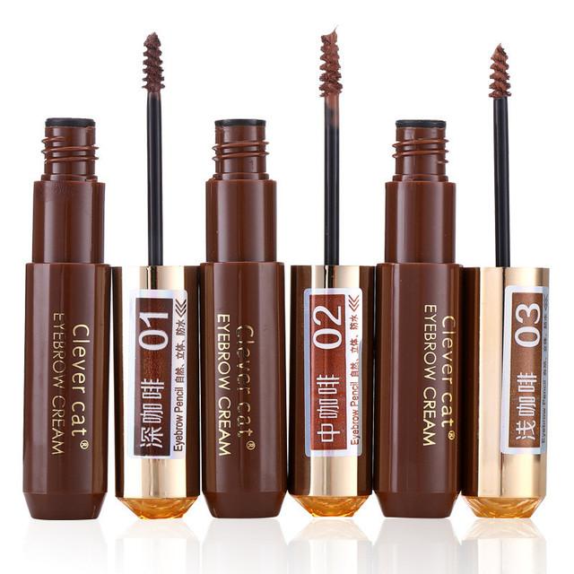 12 Unids Maquillaje Cejas Enhancers Crema del Rimel A Prueba de agua de Larga Duración Natural Café Color de Tinte Tinte Pintura Belleza Establecidos