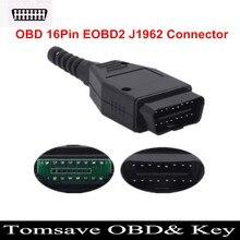 3 قطعة/الوحدة OBD 16Pin EOBD2 OBDii OBDII OBD2 J1962 موصل ذكر التوصيل محول