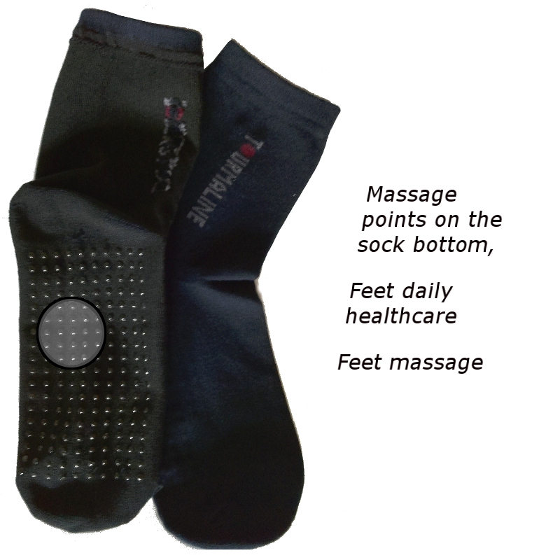 Hot Sale Tourmaline Sock Natural Therapy Feet Massage Sock 5 Pairs/Lot /10 Pieces