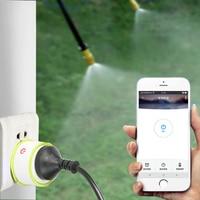 Telefoon Wifi Controle Tuin Irrigatiesysteem Drip irrigatie Tuin Watering Timer Automatische Sockets Home Timer Autoplay