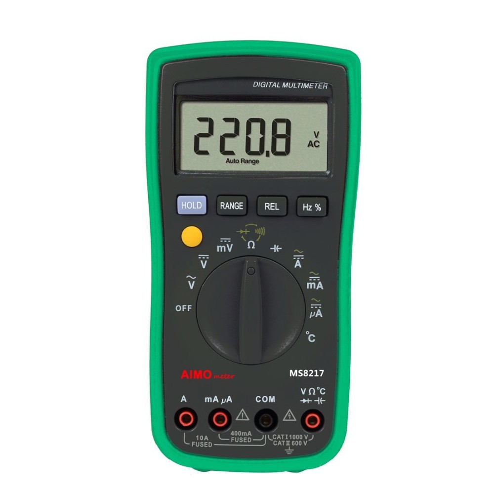 MASTECH MS8217 Digital Multimeter AC/DC Voltage AC/DC Current Resistance Capacitance Tester with Temperature Measurement mastech digital multimeter ms8239c handheld auto range ac dc voltage ac current capacitance frequency temperature tester