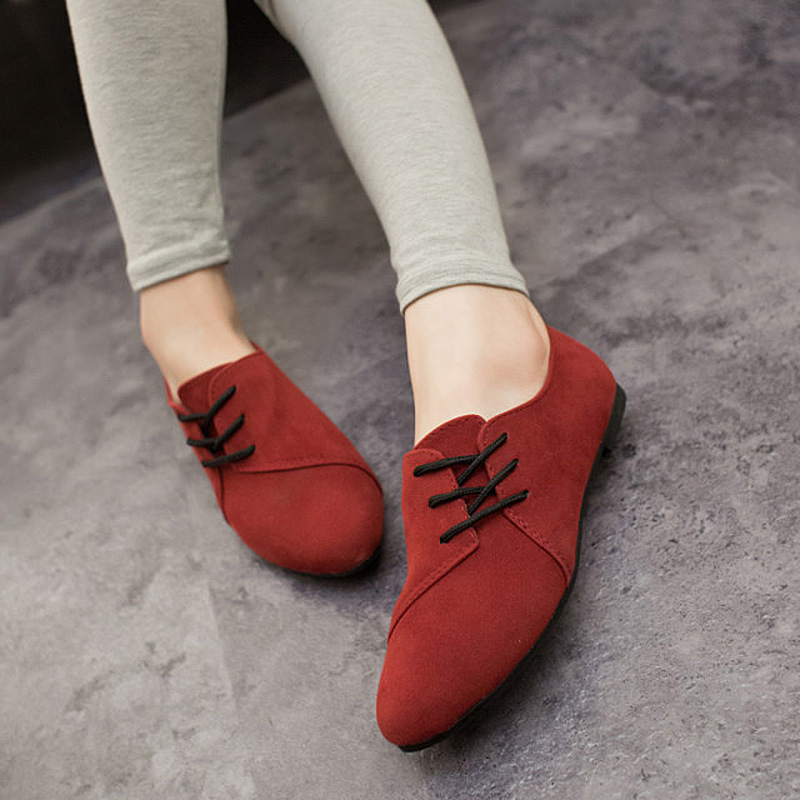 Lotus Jolly Ballet Flats Faux Leather Women Casual Shoes Tie Vintage British Oxford Low Pointed Toe Spring Autumn Zapatos Mujer janssen 75