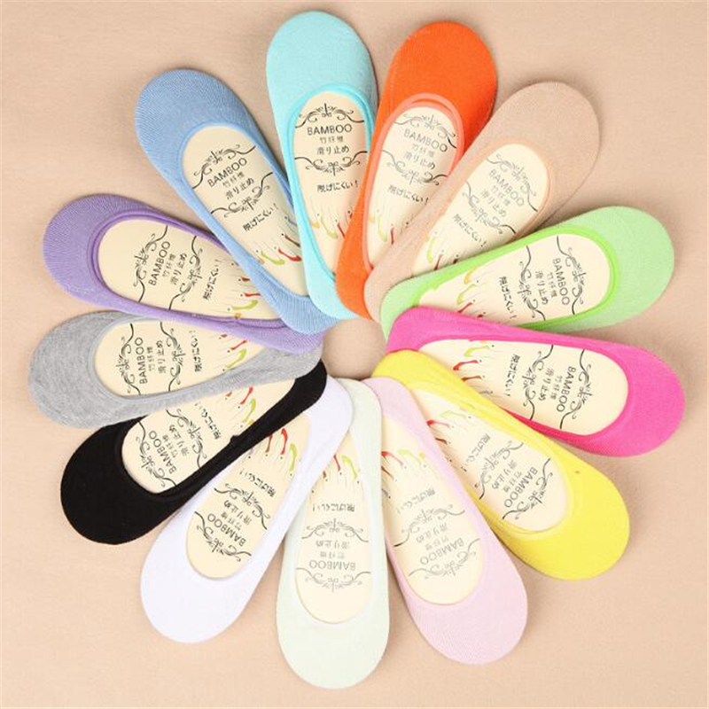 13 color summer comfortable cotton girl women's socks ankle low female invisible color girl boy hosiery 5pair=10pcs