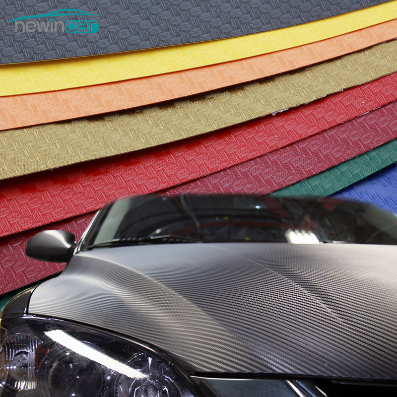 Etiqueta engomada del coche 200X50 cm 3D 4D película de vinilo de fibra de carbono 3 M impermeable DIY envoltura con embalaje al por menor motocicleta