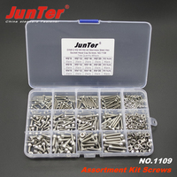 480pcs M2 M3 M4 A2 Stainless Steel DIN912 Allen Bolts Hex Socket Head Cap Screws With Nuts Assortment Kit NO.1109