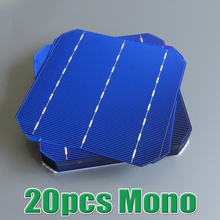 20pcs 4.4 W 18% – 18.2% high efficiency 156 Mono monocrystalline Solar Cell panel 6×6 WY