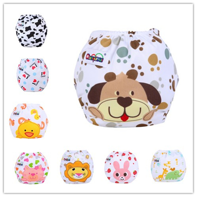 1pcs Baby Diaper Washable Reusable Nappies Changing Cotton Training Pant Happy Cloth Diaper Sassy Fraldas Reutilizaveis