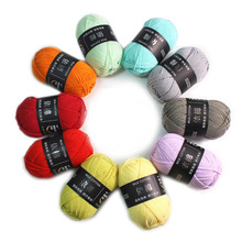 Milk Cotton Yarn Crochet-Thread Hand-Knitting Sweater Combed Soft Baby 50g/ball Eco-Friendly