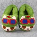 26 cm Largo Timo Rammus Teemo Cálidas Zapatillas Suaves de Algodón Zapatos Calientes de Interior Envío Libre Grandes Regalos De Navidad