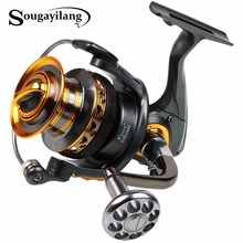 Sougayilang Spinning Fishing Reel Full Metal Body and spoon Water Proof 13+1BB 4000-7000series Fishing Coil Reel Wheel De Pesca