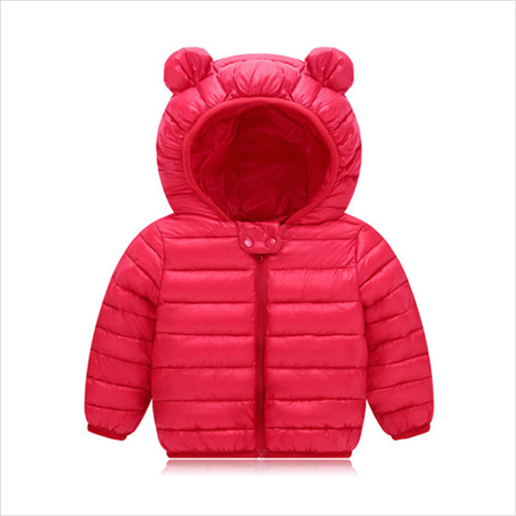 Fanfiluca Toddler Coat Black Hooded Warm Winter Coat Girls Cotton Waistcoat Infant For Baby Boy Jacket Kids Parka Outerwear003