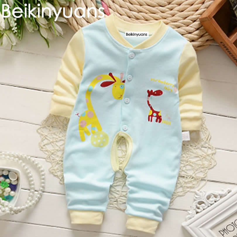 Children 's Body Clothing Cotton Baby Boy Clothes Comfortable Girls   Rompers   Thick Climbing Newborn 0-15M Baby Clothes Unisex