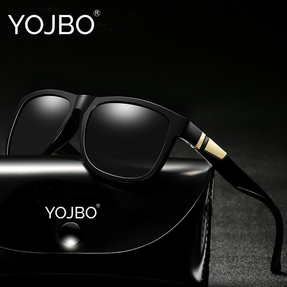 f97d1de74ee7c1 YOJBO Luxe Gepolariseerde Zonnebril Mannen Rijden Merk Designer Vierkante Vintage  Spiegel Zonnebril Black Frame Eyewear UV400 Oculos in YOJBO Luxe ...