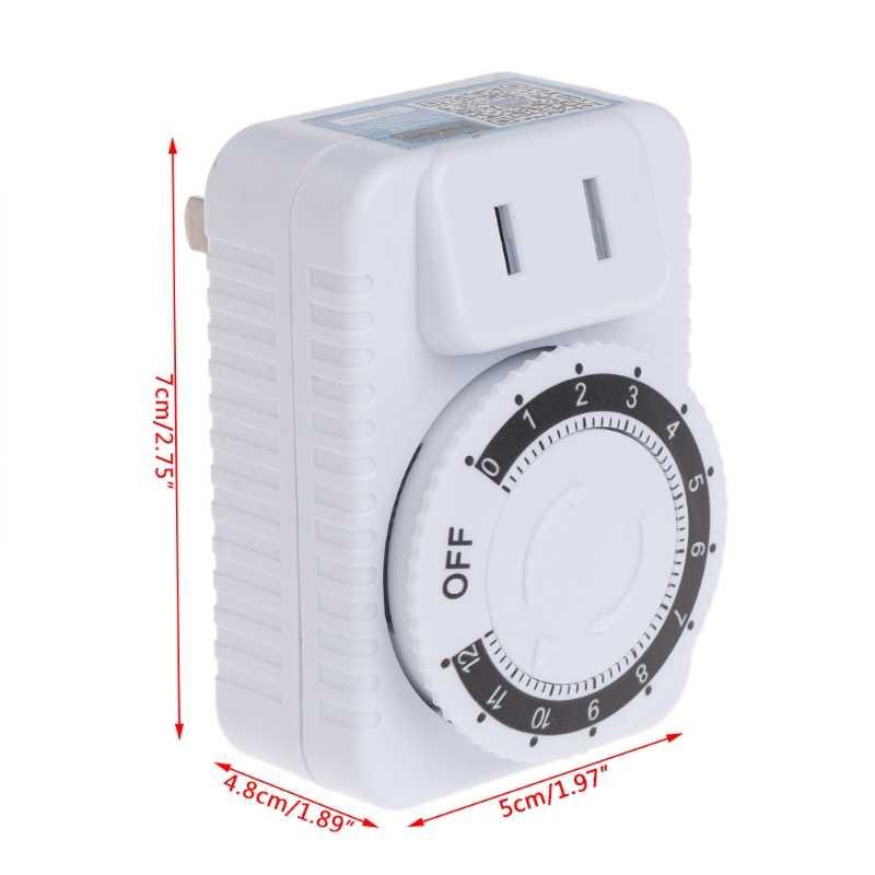 Ca 220V 12 heures mécanique prise murale interrupteur minuterie prise appareils ménagers contrôle