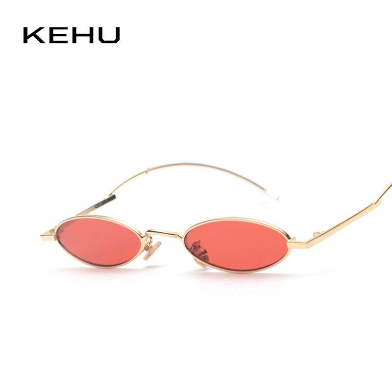 KEHU Women Oval Sunglasses Curved Mirror Leg Unique Design High-Quality Alloy Frame Designer Brand Design Eyewear UV400 K9502