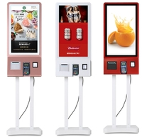 لاسلكي للتحكم عن بعد مطعم الخدمة الذاتية الطلب الغذاء اللمس التفاعلية محطة كشك آلات مع الطابعة