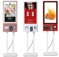 Drahtlose Fernbedienung Restaurant Selbst Service Lebensmittel Der Bestellung touch interaktive terminal kiosk maschinen mit drucker