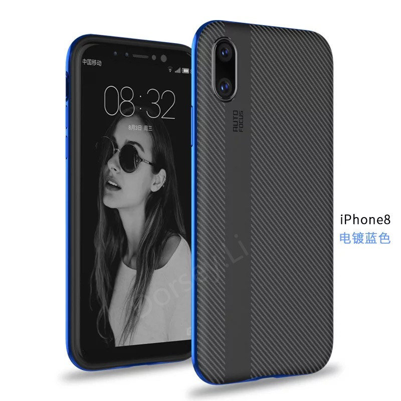 For iPhone 8 case 2 in 1 Case Plastic Plating Bumper Soft Silicon back Cover New Arrival phone cases For iphone 8 Capa Coque