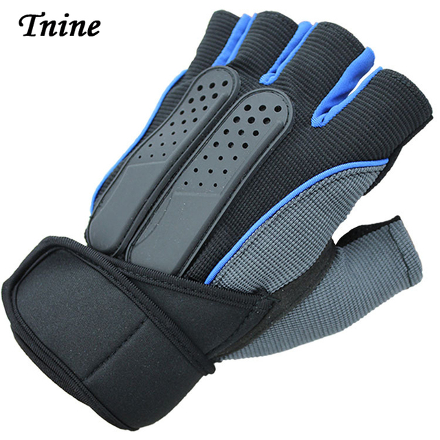 Tnine High Quality Strong Fitness Gloves Power Luvas Fitness Academia Anti-skid Guantes Protective Crossfit Gloves Tactical