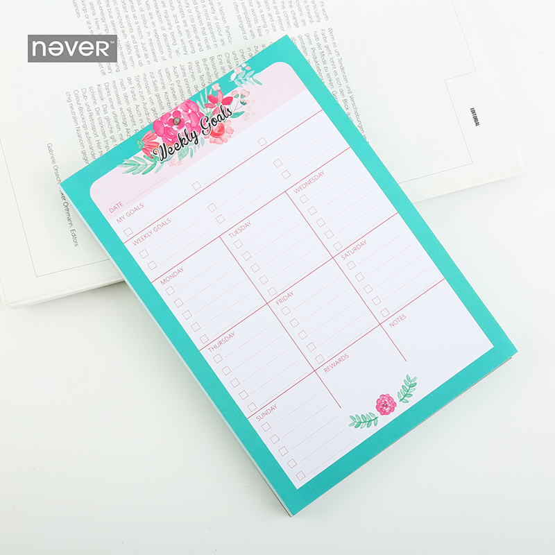 Never Mid summer Starry sky memo pad weekly planner accessories legal pad Kawaii stationery office accessories school supplies 2018 pet transparent sticky notes and memo pad self adhesiv memo pad colored post sticker papelaria office school supplies