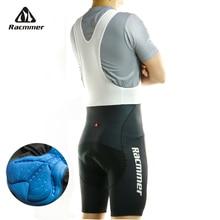 Racmmer мужские летние шорты-комбинезон с для велоспорта Coolmax 5D гелевая накладка на велосипед, Биб колготки Mtb Roupa Ropa De Ciclismo велосипедные брюки# BD-04