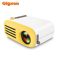 Gigxon G2000 LED Projector 600 lumen 3.5mm Audio 320x240 Max 1080P Support HDMI USB Card Mini Projector Game Home Media Player