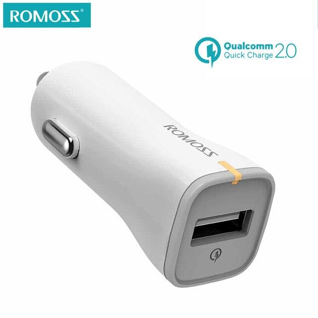 Romoss au15 qc2.0 быстрой зарядки автомобиля Зарядное устройство адаптер для iPhone Samsung для Ipad Tablet