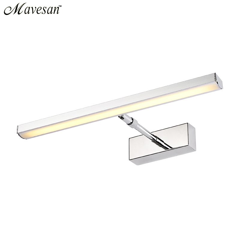 Hot Sale Bathroom LED Mirror Wall Lamp AC220V 110V Acrylic Mini Style Warm White Cool Lamps Without Switch