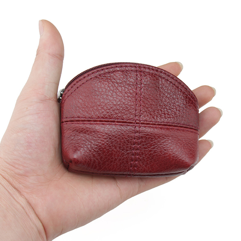 Genuine Leather Coin Holder Hobos Money Case Wallet Classic Women Men Large Coin Pouch Genuine Leather, Zippered Change Purse 247 classic leather