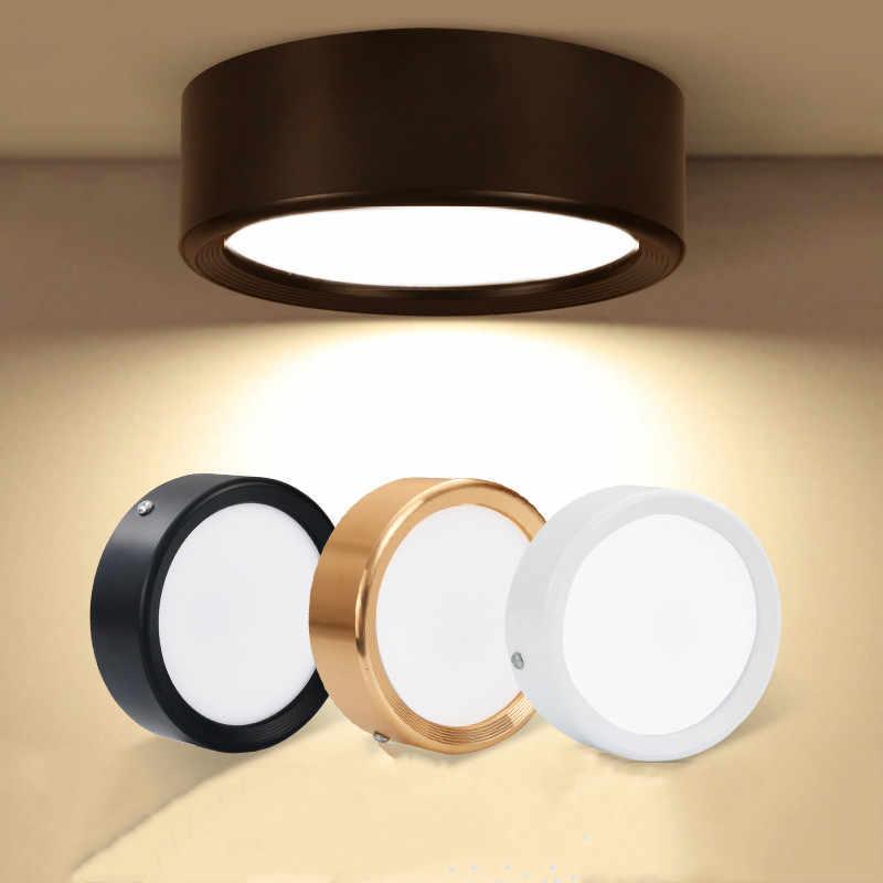 Светодиодный крепление для изогнутой поверхности лампы Ультра-тонкий корпус потолочный светильник для гостиной спальни ванной комнаты кухни черный/белый/Золотые огни