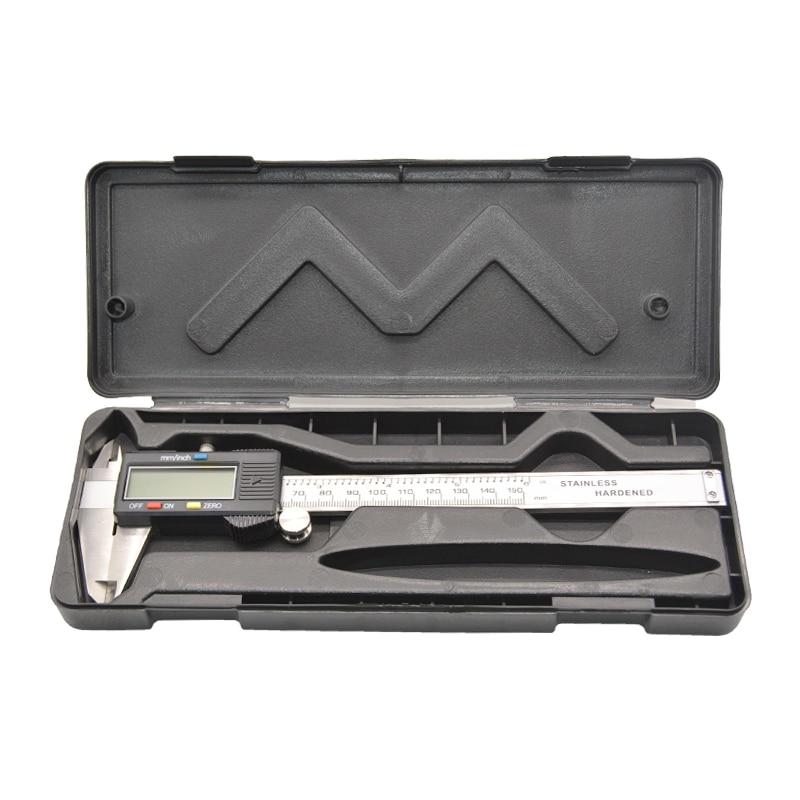 Image 5 - Digital electronic vernier caliper micrometer 150mm 6' LCD display Widescreen Stainless steel metal caliper Depth measuring tool-in Calipers from Tools