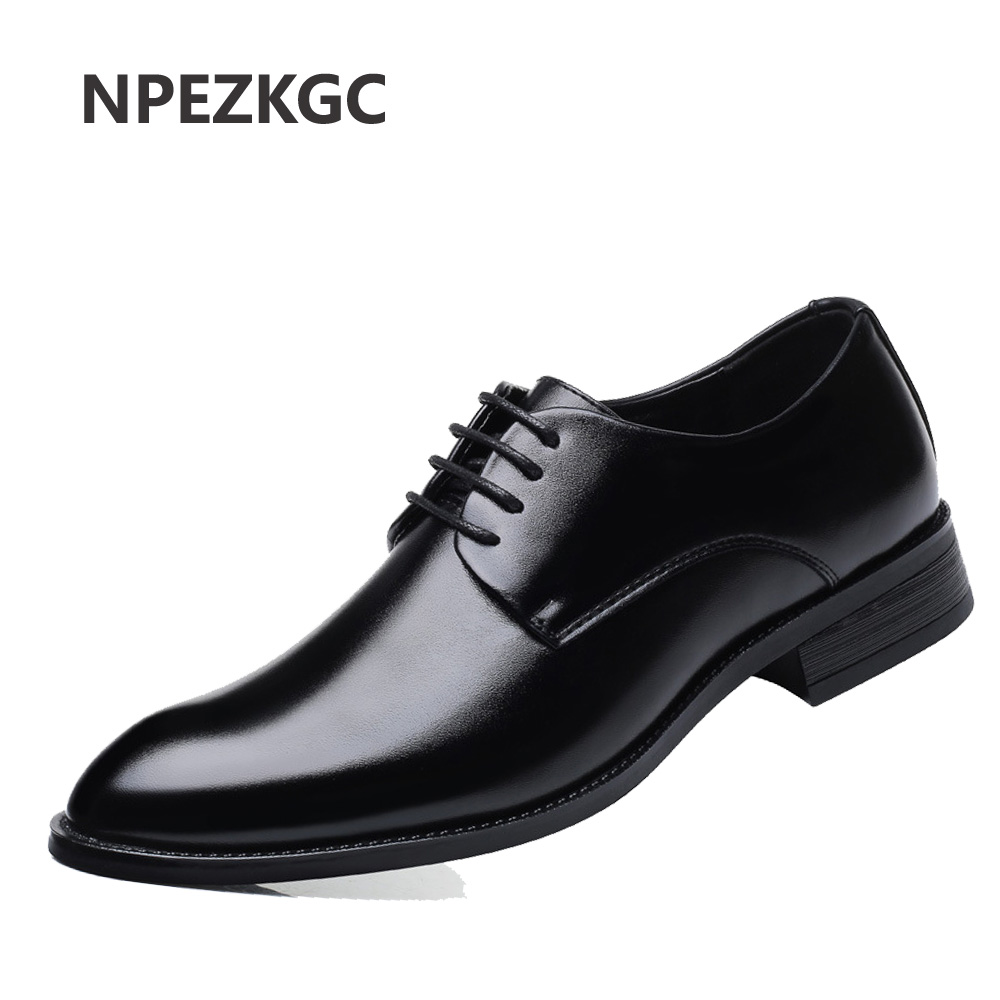 f6d3c3d851c1 Mature mens leather shoes mens dress business shoes wedding Working Office  dad shoes lace up Oxfords big size 46 47 AA-82