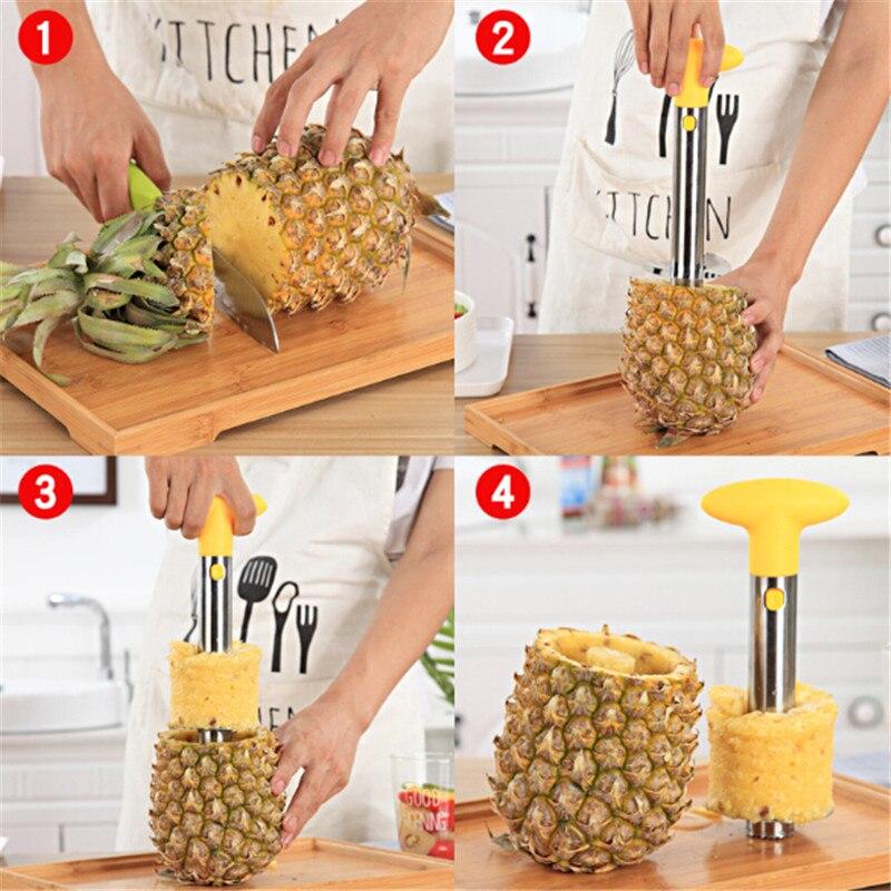 1Pc Stainless Steel Pineapple Peeler & Slicers Fruit Knife