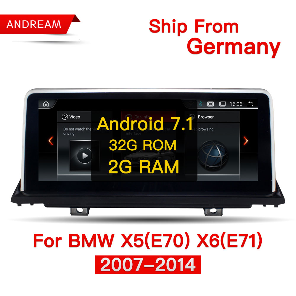 10.25 Quad Core Android 7.1 2G RAM/32G ROM Car multimedia interface for BMW X5 E70 X6 E71 GPS Navigation Support CCC iDrive