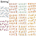 Rolabling Lovely Angle Cartoon Nail design sticker water transfer sticker on nail for Decoration Cheap nail sticker