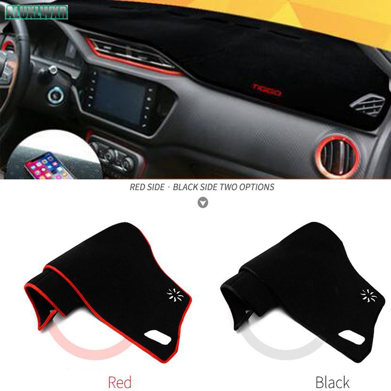 Car dashboard Avoid light pad Instrument platform desk cover Mats Carpets Auto accessories For Chery Tiggo 2 3 5 7 car-styling