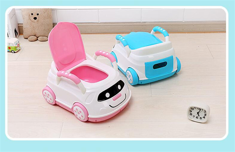 Cute Bebe Camping Car Portable Potty Child Cartoon Toilet Seat Kids Pinico WC Toilets For Boys & Girls Baby Potty Training Free 09