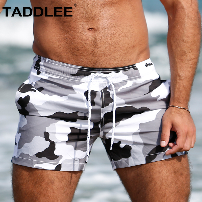Taddlee Brand Men's Swimwear Swimsuits Swim Surf   Short     Board   Boxer Trunks   Shorts   Male Quick Drying Bathing Suits Camo Beachwear