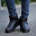 39-44 зимние ботинки мужчины супер теплые ботинки твердые снегоступы плюшевые лодыжки короткие сапоги Пряжки мужской обуви 328