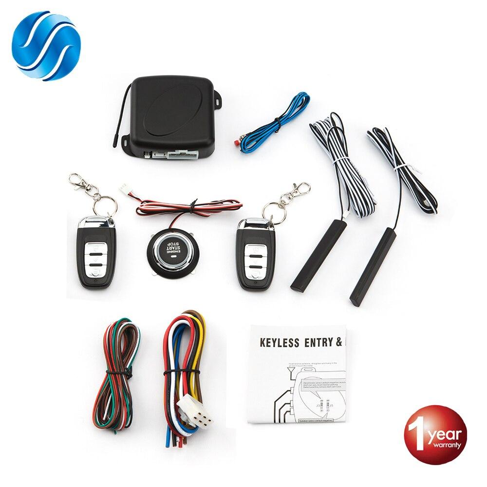 Автосигнализация с дистанционным управлением, автозапуск без ключа, система запуска двигателя, кнопка дистанционного стартера|Охранная сигнализация|   | АлиЭкспресс