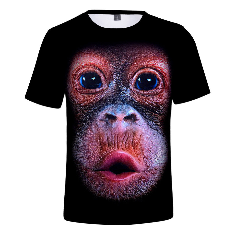 Tops & Tees T-shirts Gentle New 2 Style Summer Mens/womens Gorilla Monkey Toot Funny 3d Print Casual T-shirt Top Tees Custom Any Logo Size Design Tops Relieving Heat And Sunstroke