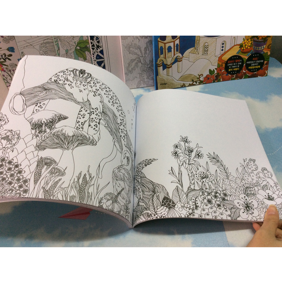 Image 5 - 82 Pages Dream Adults Coloring Books Graffiti Painting Drawing Secret Garden Colouring Book For Adults Children-in Books from Office & School Supplies