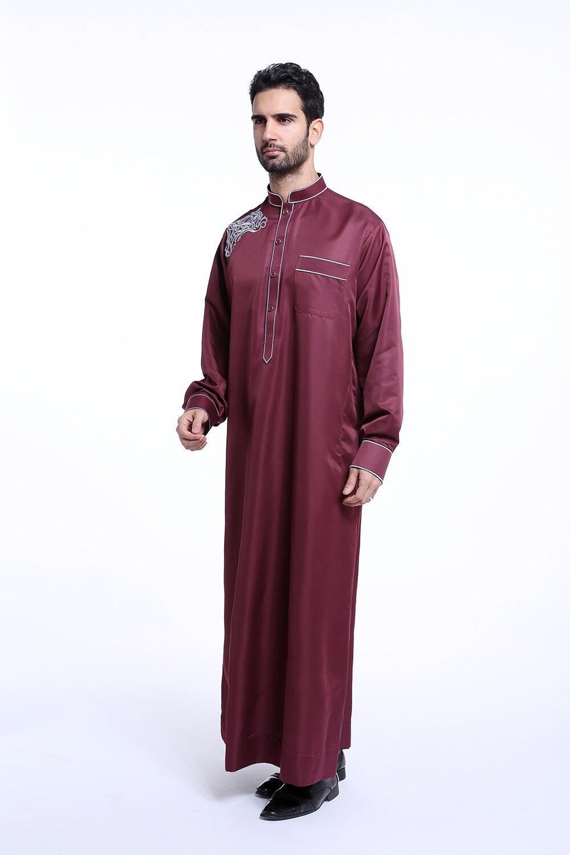 winter long sleeves new design muslim man gown dubai men abaya 4 ...