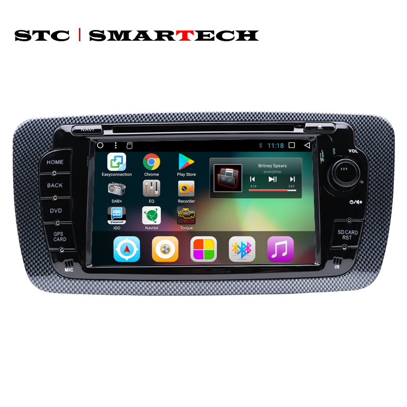 SMARTECH 2 Din Android 8 1 Car Radio DVD Player GPS Navigation for seat ibiza Quad
