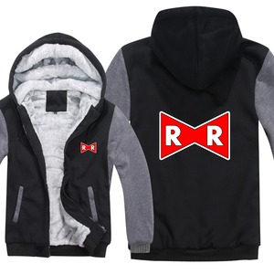 Image 4 - Dragon Ball Z Red Ribbon Army hoodies Cartoon Jacket Thicken Hoody Zipper Winter Fleece Dragon Ball Z Sweatshirt