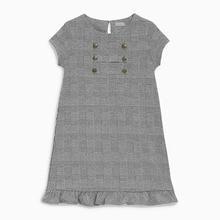 купить Little Maven New Summer Lovely Kids Short Black White Plaid Lady Button O-neck Knitted Cotton Big Girls 4-10yrs Casual Dresses дешево